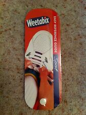 Weetabix Easy Reference Guide Sport Laminated Cards Book - Paul Wade Sealed 1997