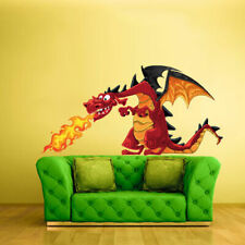Full Color Wall Vinyl Sticker Decals Dragon Fire (Col141)