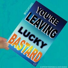 Funny Leaving Greeting Card New Job Leaving Gift Joke Colleague Coworker PC543