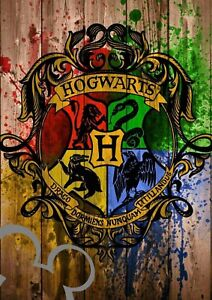Harry Potter Hogwarts art A4 print, photo, picture
