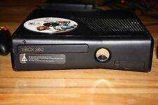 USED BLACK XBOX 360 + XBOX KINNECT and TWO CONTROLLERS