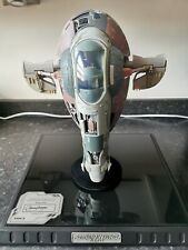 More details for star wars code 3 collectible die cast model ship slave i signature edition!!!