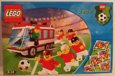LEGO Sports Set 3407 Soccer Team Transport Red Football Bus New In Box Sealed