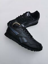 Black Reebok Classic Trainers UK 5.5 Womens Kids Boys - Worn Once - Leather
