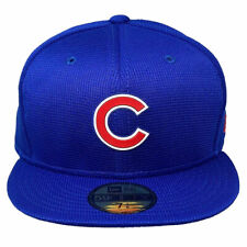 New Era x MLB20 Men's Clubhouse Chicago Cubs Basic 59Fifty Fitted Hat Blue He...