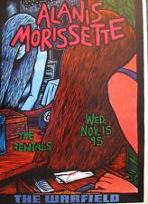 ALANIS MORISSETTE WARFIELD POSTER  Rentals ORIG BILL GRAHAM BGP133 John Howard