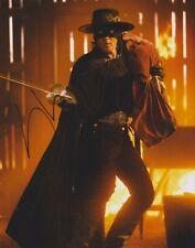 Antonio Banderas Signed Zorro 10x8 Photo AFTAL