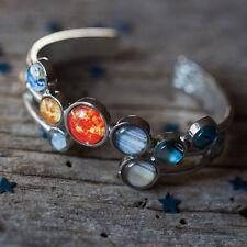 Yugen SOLAR SYSTEM Bubble Cuff BRACELET Silver Planets Celestial Jewelry