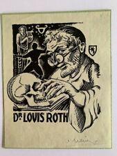Ex-Libris Alsace Alfred SELIG pour Dr. Louis Roth, 110 x 93 mm