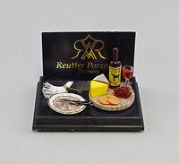 """9911031 Reutter Puppenstuben-Miniatur """"Wein / Käse Set"""""""