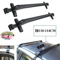 Universal Rain Gutter Cross Bars Roof Rack Lockable Anti-Theft W/O Side Rail