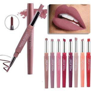 20 Color Matte Lipstick Lip Liner 2 In 1 Brand Makeup Lipstick Matte Red Lipstic