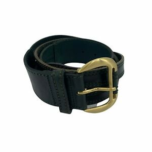 """Womens Fashion Belt Size XL Genuine Leather 2"""" (50mm) Wide Green Casual New"""