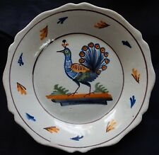 E192* Assiette ancienne Nivernais Auxerrois (décor au PAON) XIXè