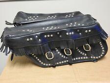 Harley Drag Specialties Shovelhead Panhead Knucklehead Leather Saddlebags