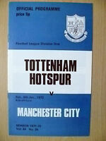 1972 League Division One- TOTTENHAM HOTSPUR v MANCHESTER CITY, 8 January