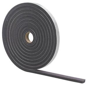 """NEW M-D 02113 GRAY FOAM WEATHER STRIPPING TAPE SELF ADHESIVE 1/2"""" X 3/4"""" 17 FT"""