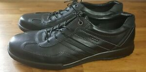 Ecco mens trainers Casual Shoes Light Dual Shock Leather Black EUR 50 New