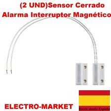(2 UND)Sensor Cerrado Alarma Interruptor Magnético Contacto Empotrada Reed