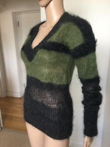 Brand New Joseph Weightless Wool Green-Grey Sweater , Size S