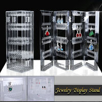 Earrings Studs Necklace Jewelry Display Rack Stand Organizer Clear 250 Holes