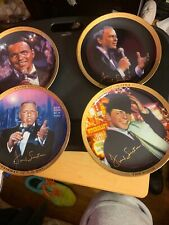 """Beautiful Franklin Mint """"Frank Sinatra"""" Limited Ed Collector Plates Lot of 4"""