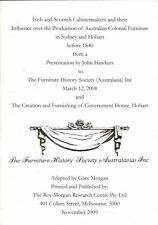 Irish and Scottish Cabinet Makers Australian Colonial Furniture Sydney Hobart