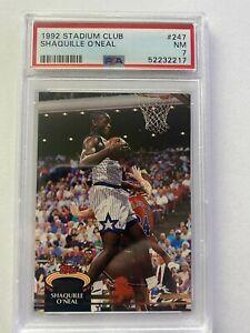 1992 Stadium Club Shaquille O'Neal #247 92 Draft Pick PSA 7 NM HOF Rookie