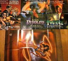 3 DC Promo Posters (1995): Wonder Woman + Batman: Riddler/Two-Face + Nightwing