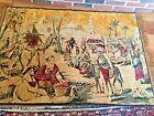 Antique Lion Tapestry Araeian scene