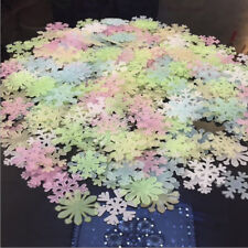 Luminous Wall Sticker Snowflake Glow In The Dark Decal Christmas Decor Stickers