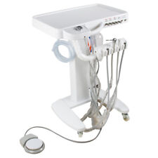 USA Mobile Dental Delivery Unit Cart Equipment 4 Hole 3 Way Syringe Compressor