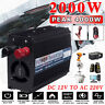 4000W Peak Car Power Inverter DC 12V To AC 220V USB Modified Sine Wave Converter
