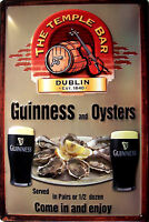 Guinness And Ostras Letrero de Metal 3D en Relieve Arqueado Cartel Lata 20 X