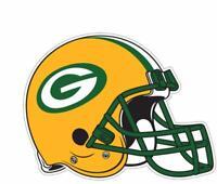 Green Bay Packers Helmet Color Die Cut Vinyl Decal Sticker - You Choose Size