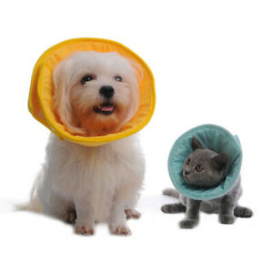 Soft Elizabethan Cat & Dog Collar Medical Anti-Lick Neck Padded Medical Collar