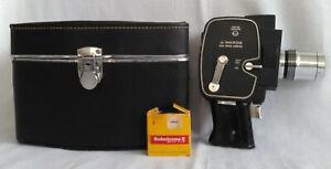 Wards 8MM Electric Eye Zoom Movie Camera Model 740 Vintage Untested w/ Case+Film