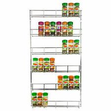 6 Tier Spice Herb Jar Rack Holder for Kitchen Door Cupboard Storage Wall Cabinet