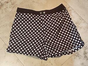 Rare Whittal and Shon Mens Swim Trunk Shorts Small Polka Dot Black White
