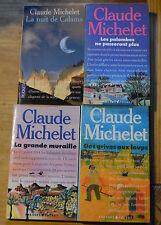 Lot de 4 livres de poche de Claude Michelet, Pocket, vieilles éditions,