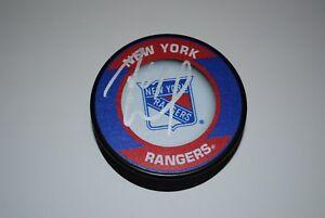 Rick Nash Autographed Rangers Logo Puck