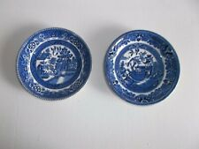 2 x WILLOW  Pattern Saucers.