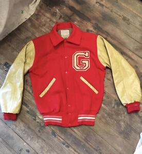 Vintage Red Wool Varsity Jacket