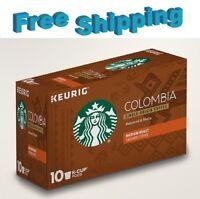 Starbucks Colombia Medium Roast Coffee Keurig k-cups