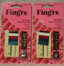 Fingrs nail art mixed embellishments ebay fingrs deluxe nail art kit style 1171 set of 2 packages prinsesfo Image collections