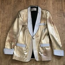 elvis presley jumpsuit gold Lame Jacket