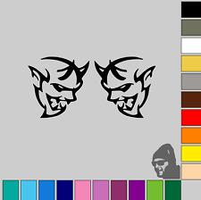 """2x Dodge Demon Logo 3"""" x 3""""! MATTE or GLOSS! Vinyl Decal Sticker Car!"""