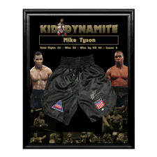 Mike Tyson Hand Signed And Framed Kid Dynamite Boxing Trunks