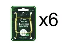 "Tripar Plate Hanger Clear Plastic Coated Adjusts 3"" To 5"", 6 Pack (23-1303)"