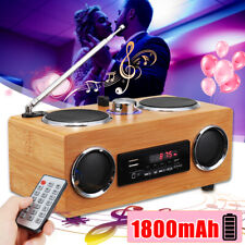 Super Bass Stereo Bamboo Multimedia Speaker TF Card/USB/FM Radio/MP3 Player